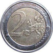 2 euros Albert II (2e carte, 1er type, 1ère effigie) -  revers