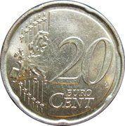 20 cents d'euro Albert II (2e carte, 1er type, 1ere effigie) -  revers