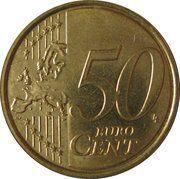 50 cents d'euro Albert II (2e carte, 2e type, 2e effigie) -  revers