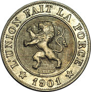 10 centimes - Léopold II (en français) – avers