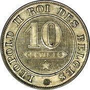 10 centimes - Léopold II (en français) -  revers