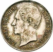 ½ franc - Léopold Ier (tête nue) -  avers
