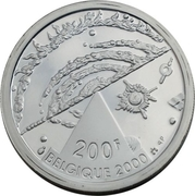 200 francs - Albert II - Millénium (univers) – revers