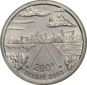 200 francs - Albert II - Millénium (ville) – revers