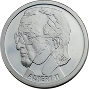 200 francs - Albert II - Millénium (ville) – avers