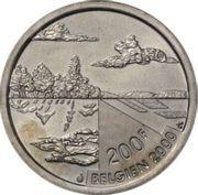 200 francs - Albert II - Millénium (nature) – revers