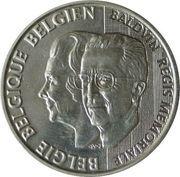 250 francs - Albert II - 70ème anniversaire de la reine Fabiola et 5ème anniversaire de la mort du roi Baudouin – avers