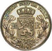 2½ francs - Léopold Ier (tête nue et grande) -  avers