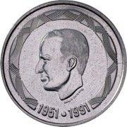 500 francs - 40ème anniversaire du règne du Roi Baudouin (en néerlandais) – avers