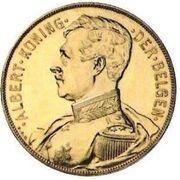 100 francs Or - Albert 1er (en néerlandais, essai) – avers