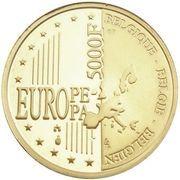 5000  francs Or - Albert II – revers