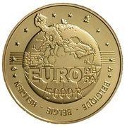 5000 francs - Albert II (Charles Quint) – revers