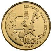 5000 francs - Présidence belge à l'Union Européenne – revers