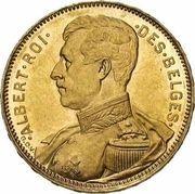 20 francs - Albert I (légende en  français) -  avers