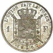 1 franc - Léopold II - type Wiener (en français) -  avers