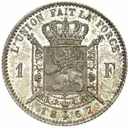 1 franc - Léopold II - type Wiener (en français) -  revers