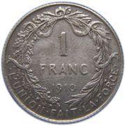 1 franc - Albert Ier (en français) -  revers