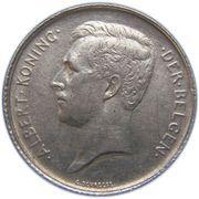 1 franc - Albert Ier (en néerlandais) -  avers