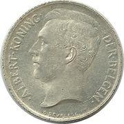 50 centimes - Albert Ier (en néerlandais) – avers