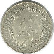 50 centimes - Albert Ier (en néerlandais) – revers