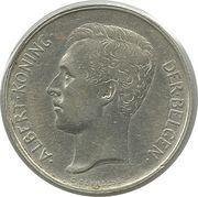 2 francs - Albert Ier (en néerlandais) -  avers