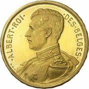 100 francs Or - Albert 1er (en français, essai) – avers