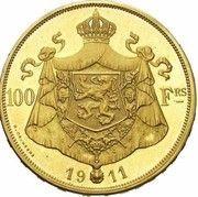 100 francs Or - Albert 1er (en français, essai) – revers