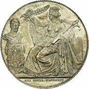 Module de 2 francs 25e Anniversaire de l'inauguration du Roi Léopold Ier (en Français) – avers