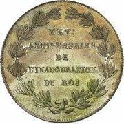 Module de 2 francs 25e Anniversaire de l'inauguration du Roi Léopold Ier (en Français) – revers