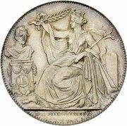 Module de 2 francs 25e Anniversaire de l'inauguration du Roi Léopold Ier (en Néerlandais) – avers