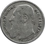 50 centimes - Léopold II - type Vinçotte (en néerlandais) -  avers