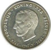 250 francs - Baudouin Ier - 25e anniversaire de l'intronisation (en néerlandais) – avers