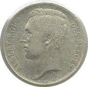 50 centimes - Albert Ier (en français) -  avers
