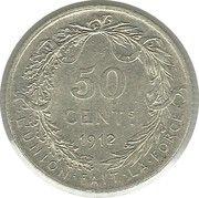 50 centimes - Albert Ier (en français) -  revers