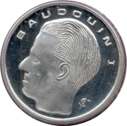 1 franc - Baudouin Ier (en français) -  avers