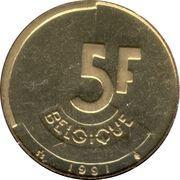 5 francs - Baudouin Ier (en français) -  revers