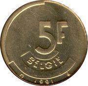 5 francs - Baudouin Ier (en néerlandais) -  revers