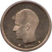 20 francs - Baudouin Ier (en néerlandais) -  avers