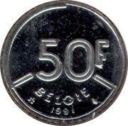 50 francs - Baudouin Ier (en néerlandais) -  revers