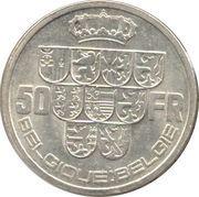 50 francs - Léopold III (Belgique-Belgie) – revers