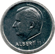 50 francs - Albert II - Euro 2000 (en néerlandais) – avers