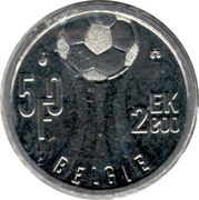 50 francs - Albert II - Euro 2000 (en néerlandais) – revers