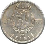 100 francs - Prince Charles - type dynastie (en néerlandais) – revers