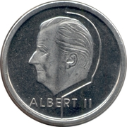 1 franc - Albert II (en français) -  avers
