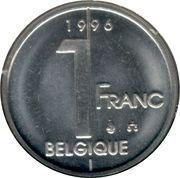 1 franc - Albert II (en français) -  revers