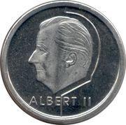 1 franc Albert II (en néerlandais) -  avers