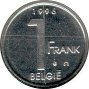 1 franc Albert II (en néerlandais) -  revers