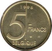 5 francs - Albert II (en français) -  revers