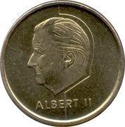 5 francs - Albert II (en néerlandais) -  avers