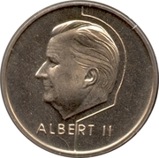 20 francs - Albert II (en français) -  avers